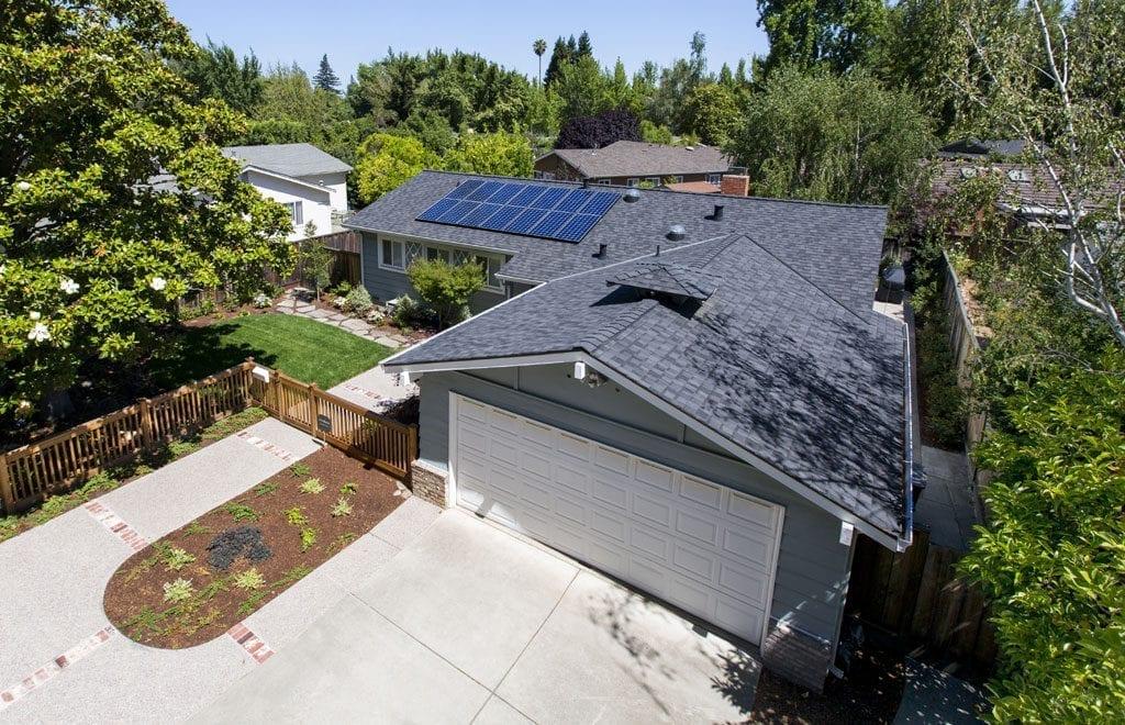 home with sunpower solar panels